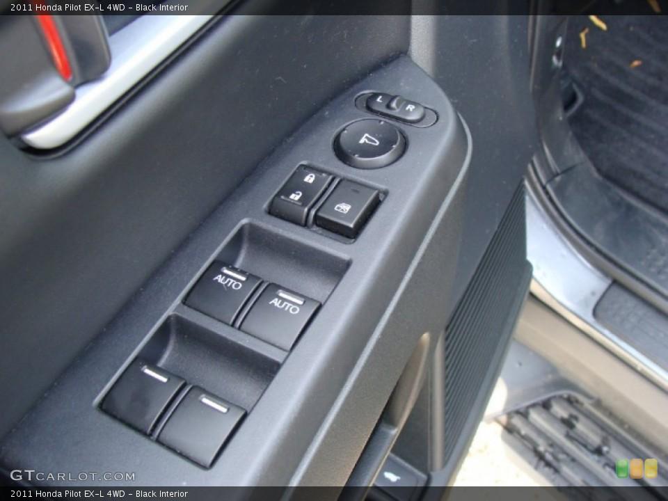 Black Interior Controls for the 2011 Honda Pilot EX-L 4WD #55876805