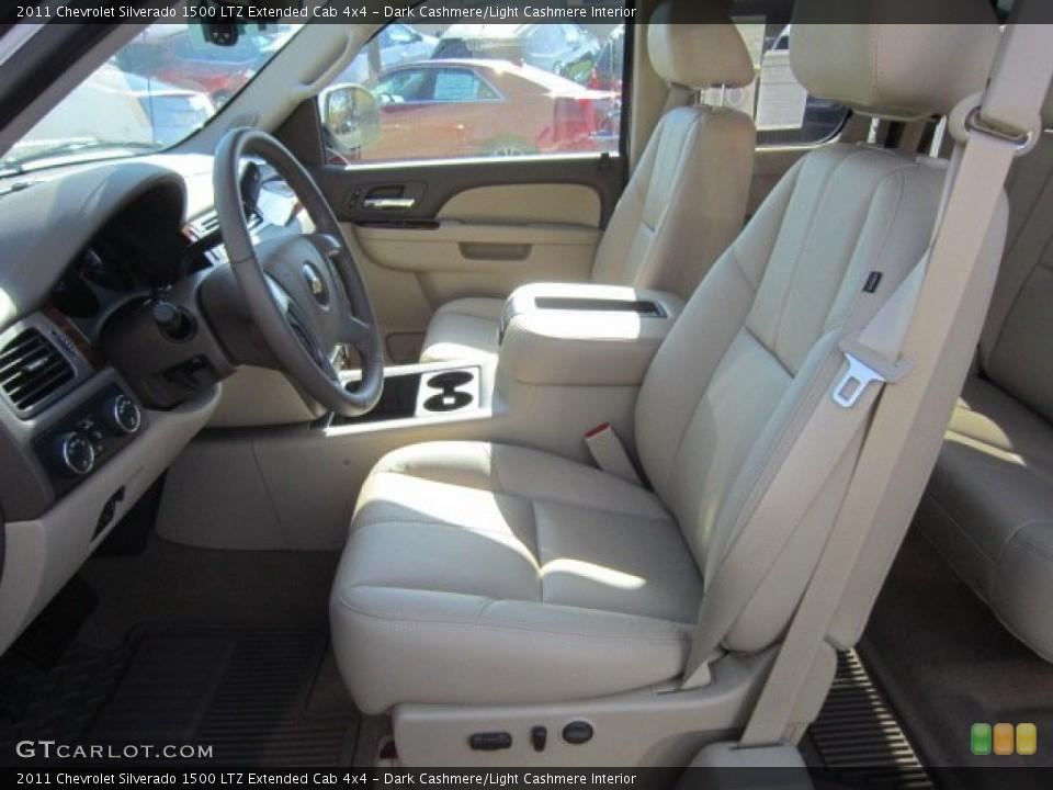 Dark Cashmere/Light Cashmere Interior Photo for the 2011 Chevrolet Silverado 1500 LTZ Extended Cab 4x4 #55959609