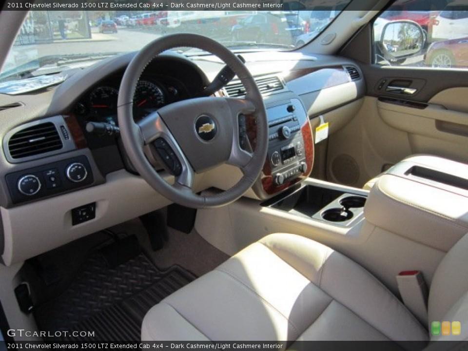 Dark Cashmere/Light Cashmere Interior Dashboard for the 2011 Chevrolet Silverado 1500 LTZ Extended Cab 4x4 #55959621