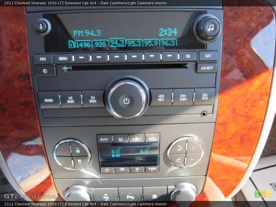 Dark Cashmere/Light Cashmere Interior Audio System for the 2011 Chevrolet Silverado 1500 LTZ Extended Cab 4x4 #55959645