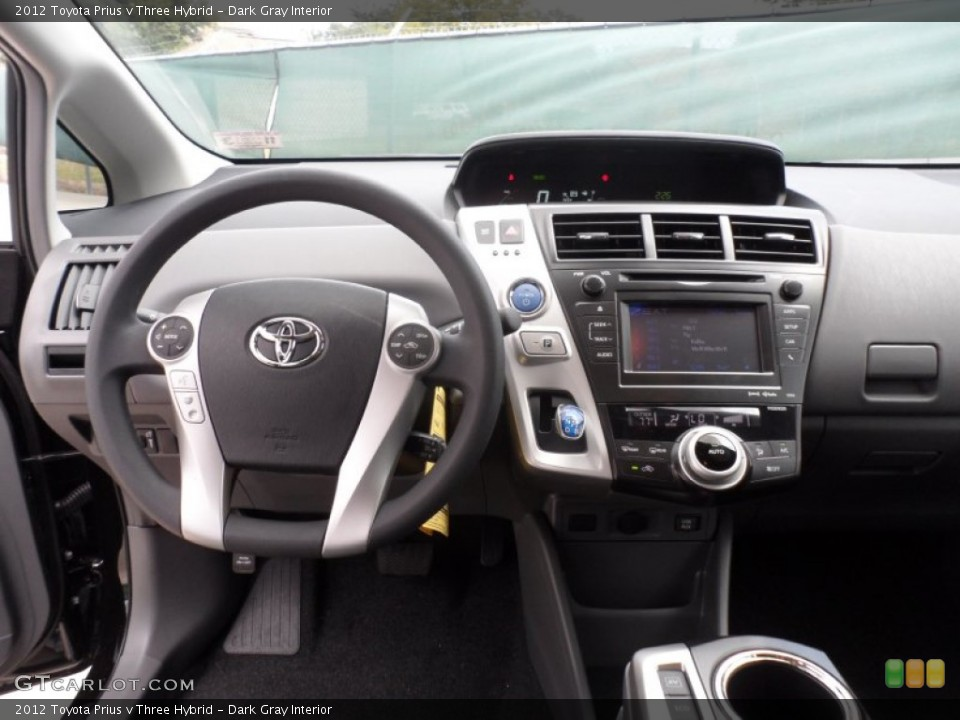 Dark Gray Interior Dashboard For The 2017 Toyota Prius V Three Hybrid 56005819