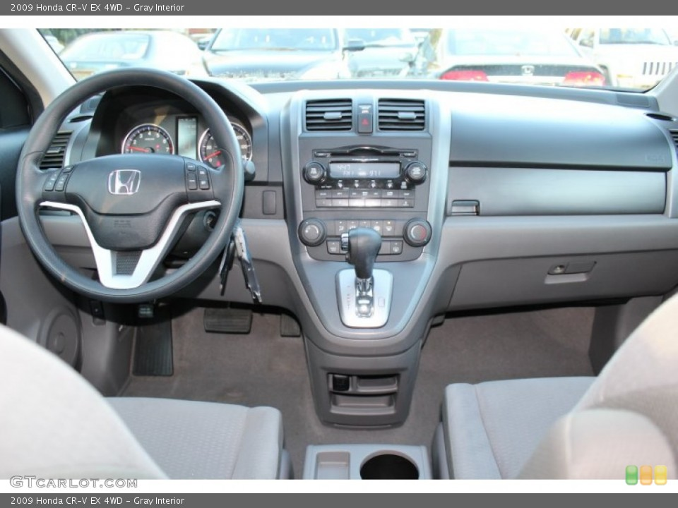 Gray Interior Dashboard for the 2009 Honda CR-V EX 4WD #56019065