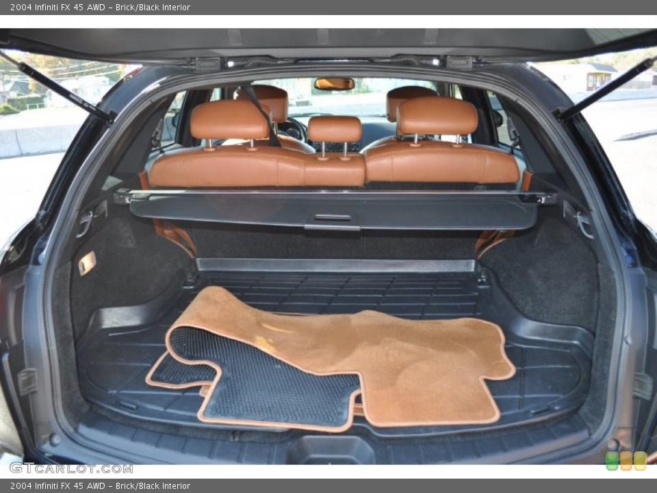 Brick/Black Interior Trunk for the 2004 Infiniti FX 45 AWD #56046419
