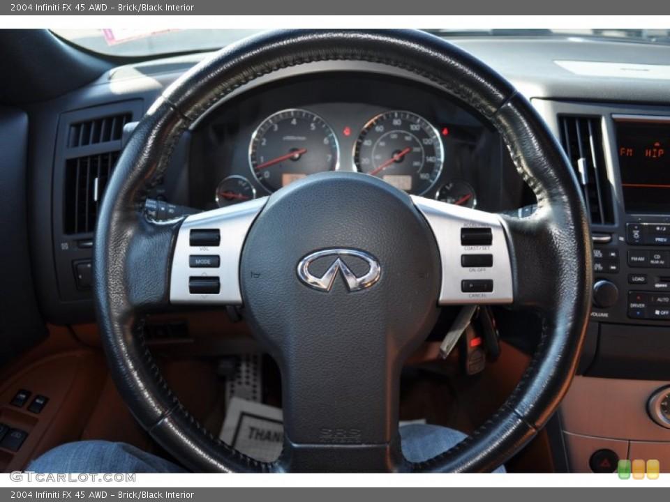 Brick/Black Interior Steering Wheel for the 2004 Infiniti FX 45 AWD #56046428