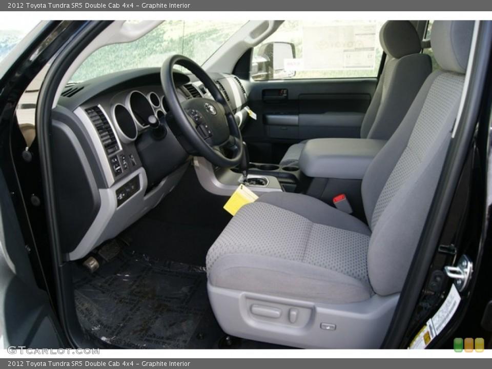 Graphite Interior Photo for the 2012 Toyota Tundra SR5 Double Cab 4x4 #56068200