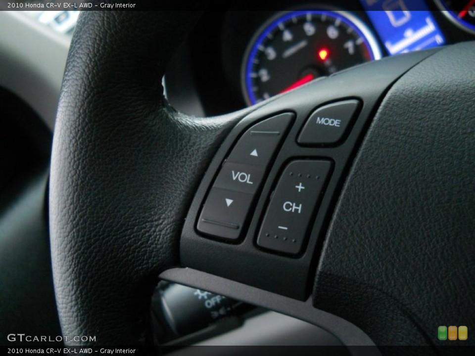 Gray Interior Controls for the 2010 Honda CR-V EX-L AWD #56253944