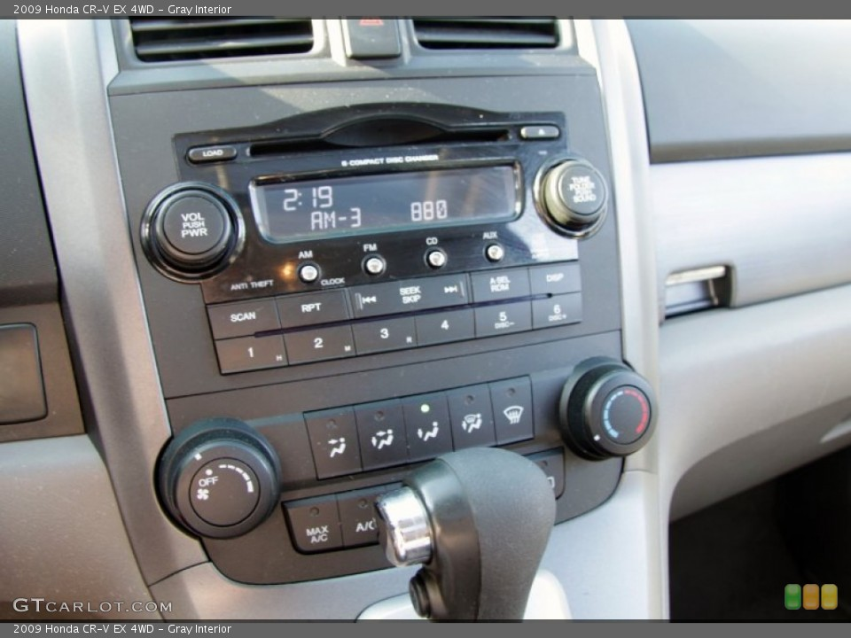 Gray Interior Controls for the 2009 Honda CR-V EX 4WD #56313048