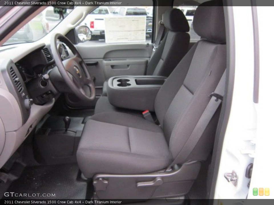 Dark Titanium Interior Photo for the 2011 Chevrolet Silverado 1500 Crew Cab 4x4 #56400709