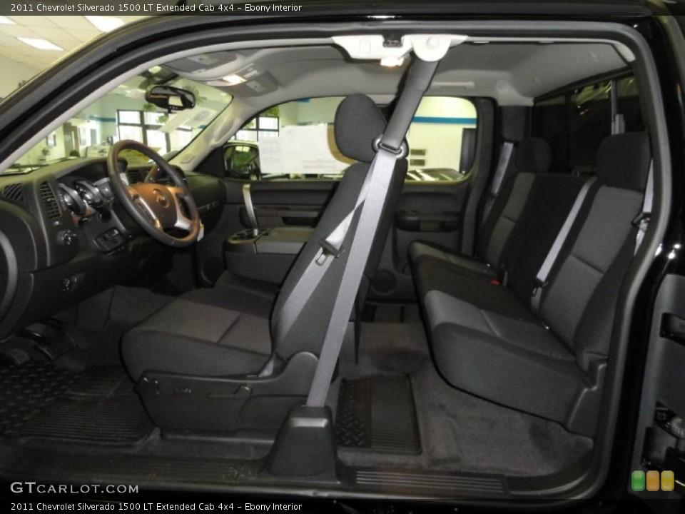 Ebony Interior Photo for the 2011 Chevrolet Silverado 1500 LT Extended Cab 4x4 #56437999