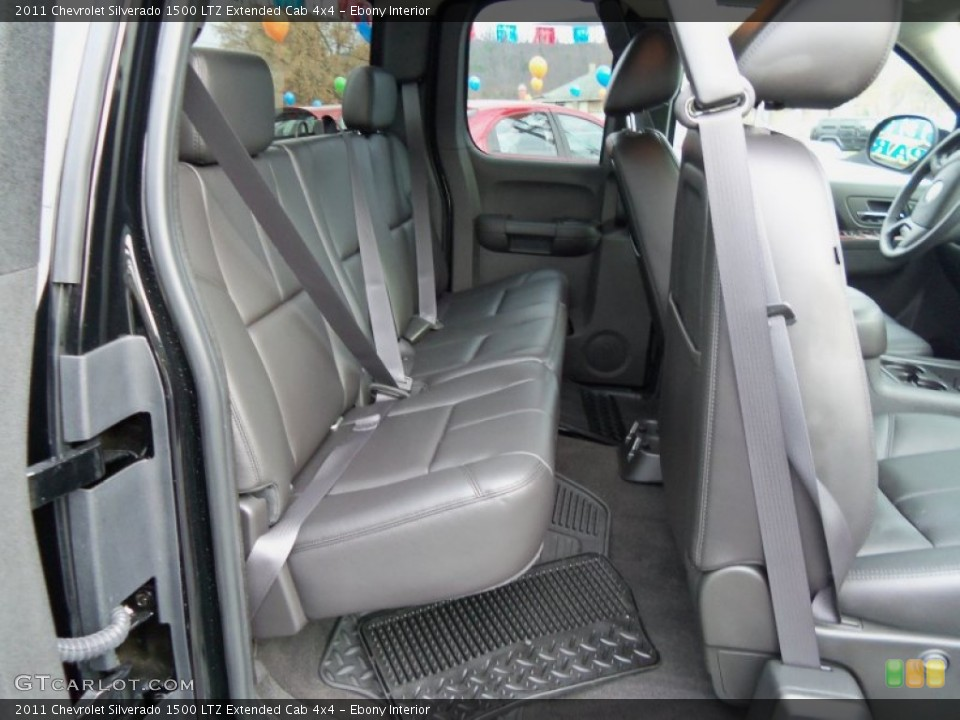 Ebony Interior Photo for the 2011 Chevrolet Silverado 1500 LTZ Extended Cab 4x4 #56500677