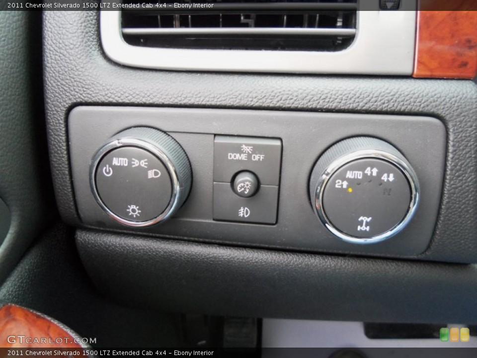 Ebony Interior Controls for the 2011 Chevrolet Silverado 1500 LTZ Extended Cab 4x4 #56500737
