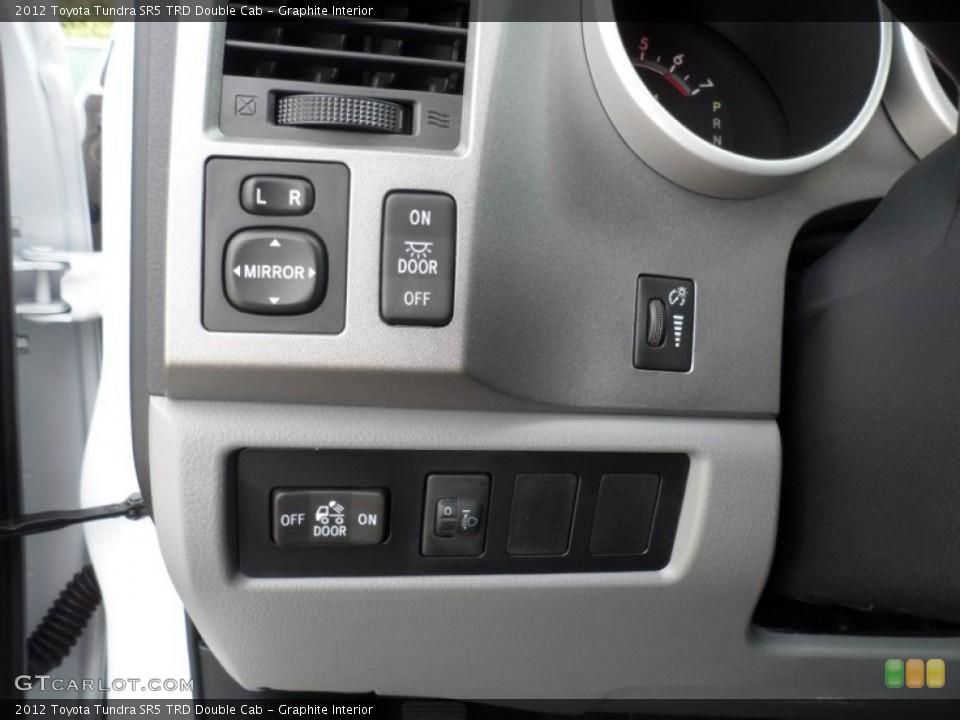 Graphite Interior Controls for the 2012 Toyota Tundra SR5 TRD Double Cab #56521930