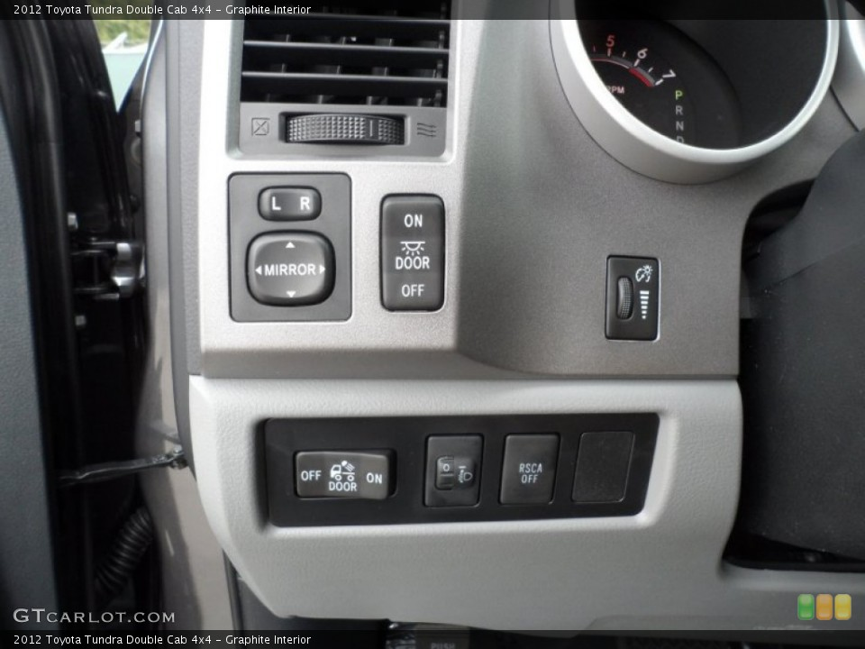 Graphite Interior Controls for the 2012 Toyota Tundra Double Cab 4x4 #56522221