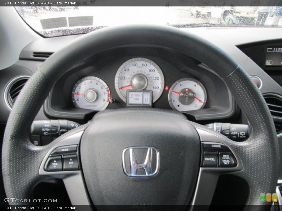 Black Interior Steering Wheel for the 2011 Honda Pilot EX 4WD #56573173