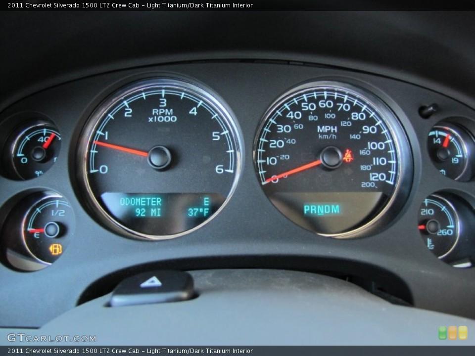 Light Titanium/Dark Titanium Interior Gauges for the 2011 Chevrolet Silverado 1500 LTZ Crew Cab #56606037