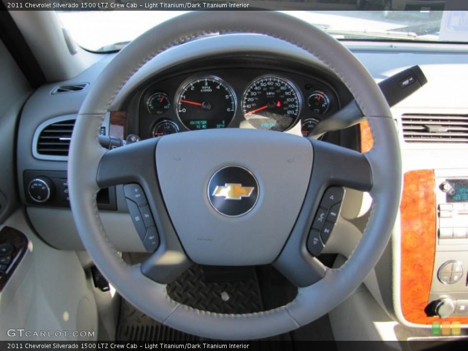 Light Titanium/Dark Titanium Interior Steering Wheel for the 2011 Chevrolet Silverado 1500 LTZ Crew Cab #56606052
