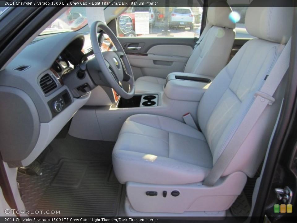 Light Titanium/Dark Titanium Interior Photo for the 2011 Chevrolet Silverado 1500 LTZ Crew Cab #56606064