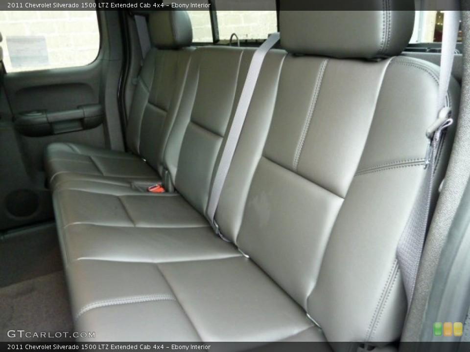 Ebony Interior Photo for the 2011 Chevrolet Silverado 1500 LTZ Extended Cab 4x4 #56642484