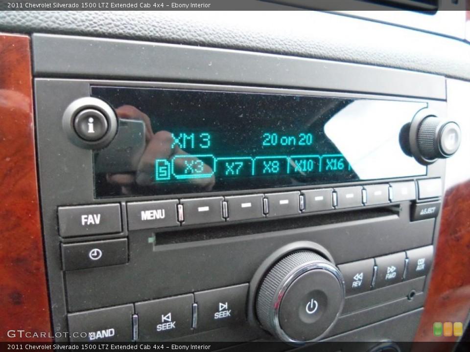 Ebony Interior Audio System for the 2011 Chevrolet Silverado 1500 LTZ Extended Cab 4x4 #56674179