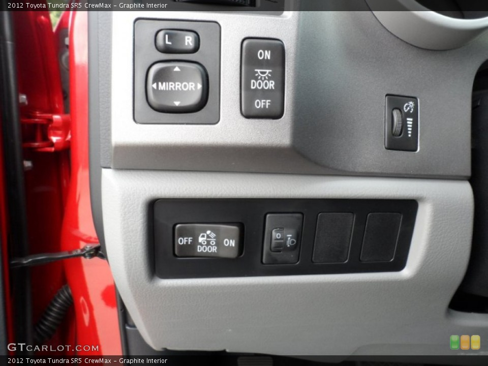 Graphite Interior Controls for the 2012 Toyota Tundra SR5 CrewMax #56811778