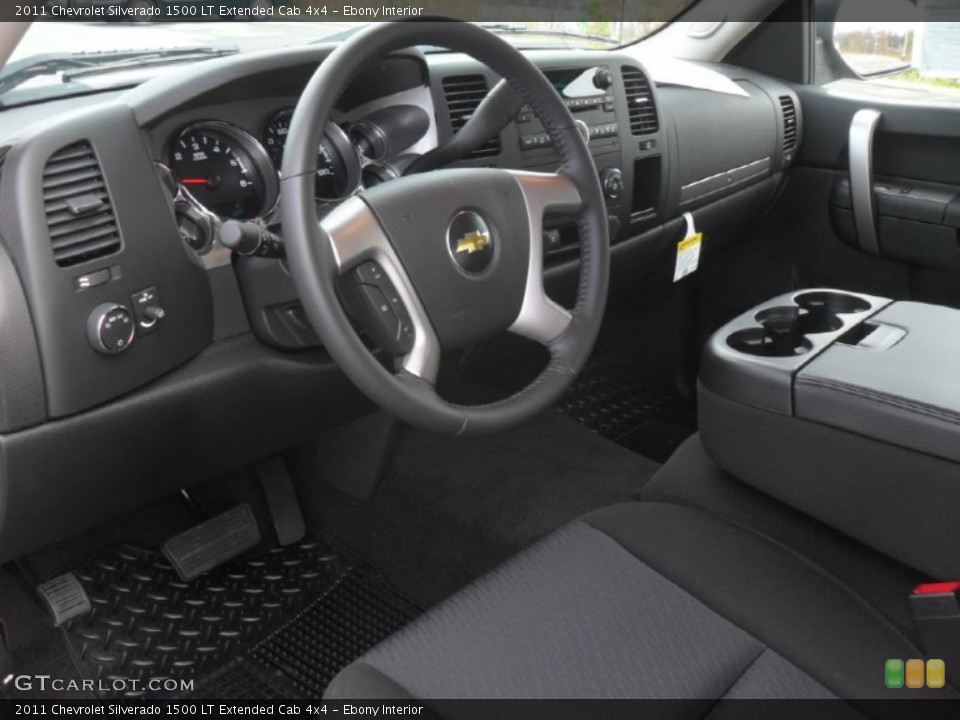 Ebony Interior Prime Interior for the 2011 Chevrolet Silverado 1500 LT Extended Cab 4x4 #56863551