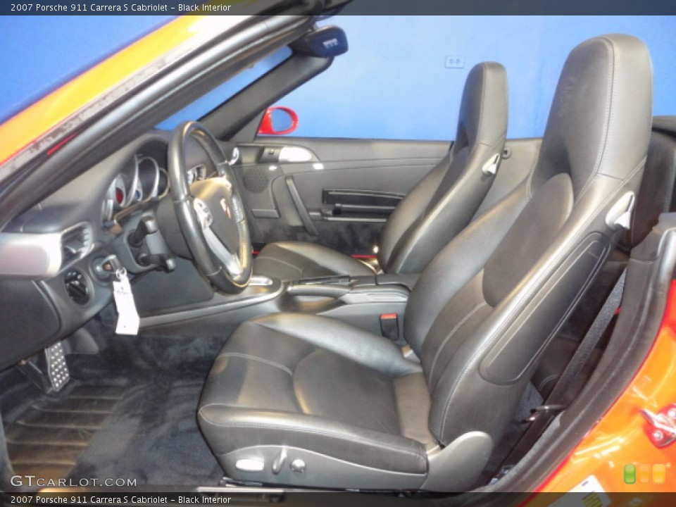 Black Interior Photo for the 2007 Porsche 911 Carrera S Cabriolet #57156991