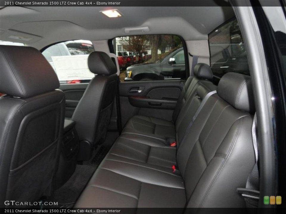 Ebony Interior Photo for the 2011 Chevrolet Silverado 1500 LTZ Crew Cab 4x4 #57226012