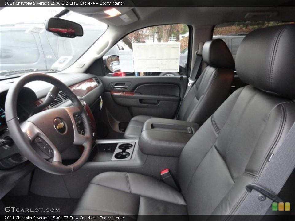 Ebony Interior Photo for the 2011 Chevrolet Silverado 1500 LTZ Crew Cab 4x4 #57226021