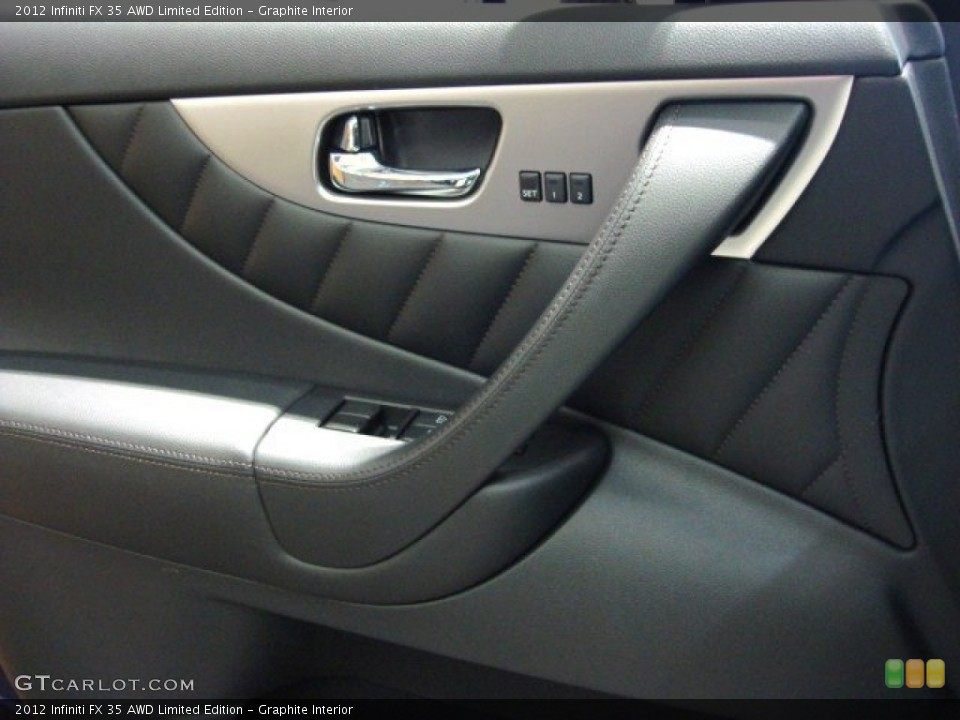 Graphite Interior Controls for the 2012 Infiniti FX 35 AWD Limited Edition #57287425