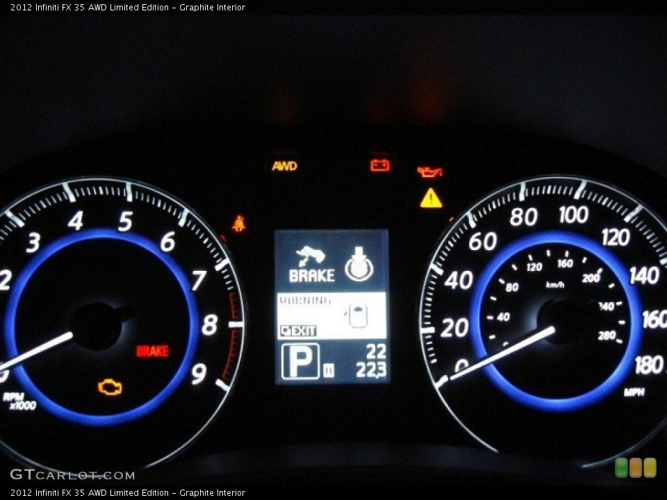 Graphite Interior Gauges for the 2012 Infiniti FX 35 AWD Limited Edition #57287435