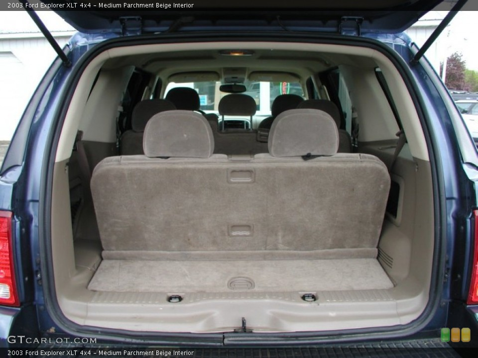 Medium Parchment Beige Interior Trunk for the 2003 Ford Explorer XLT 4x4 #57379034