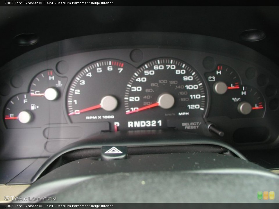 Medium Parchment Beige Interior Gauges for the 2003 Ford Explorer XLT 4x4 #57379145