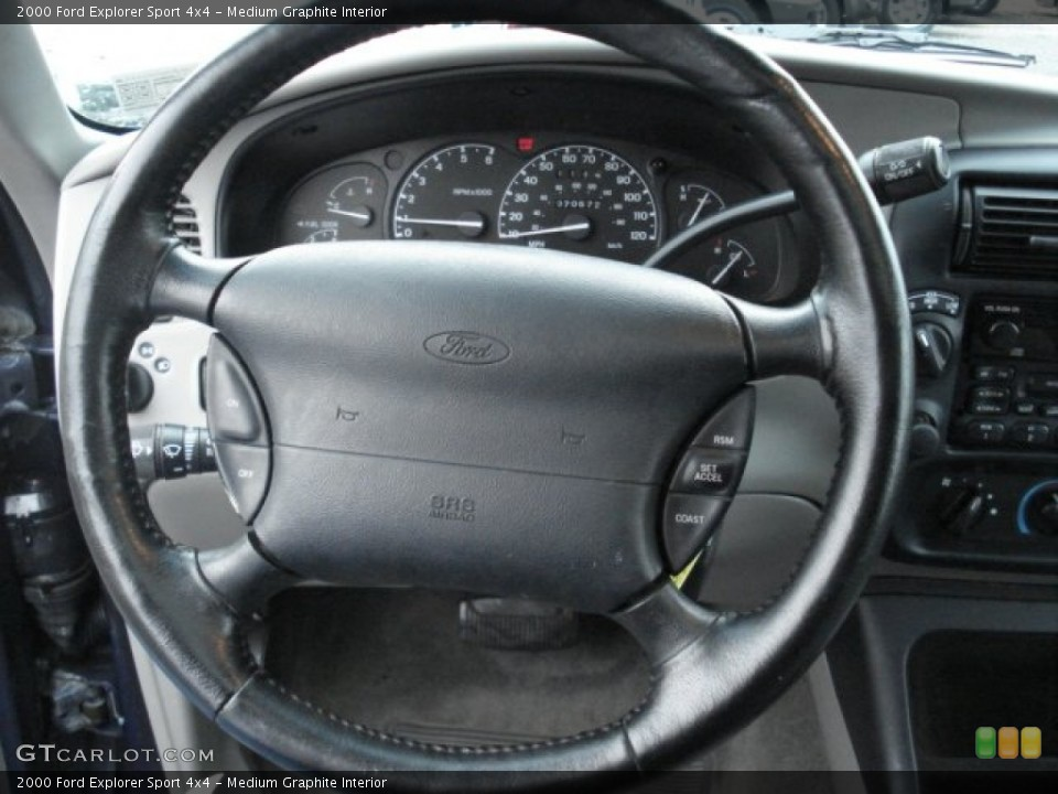 Medium Graphite Interior Steering Wheel for the 2000 Ford Explorer Sport 4x4 #57506026