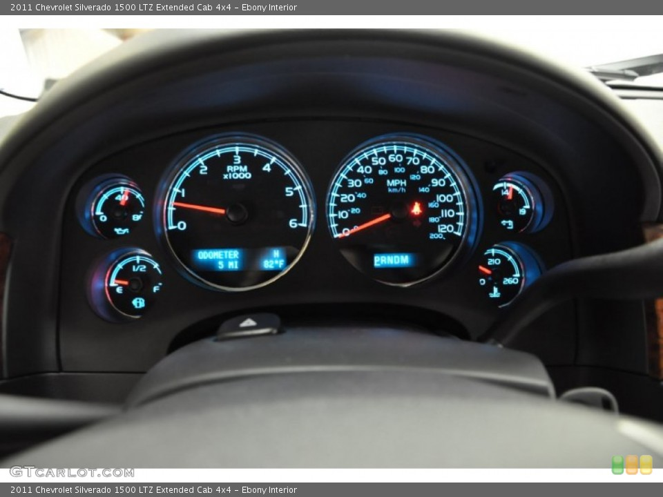 Ebony Interior Gauges for the 2011 Chevrolet Silverado 1500 LTZ Extended Cab 4x4 #57689501
