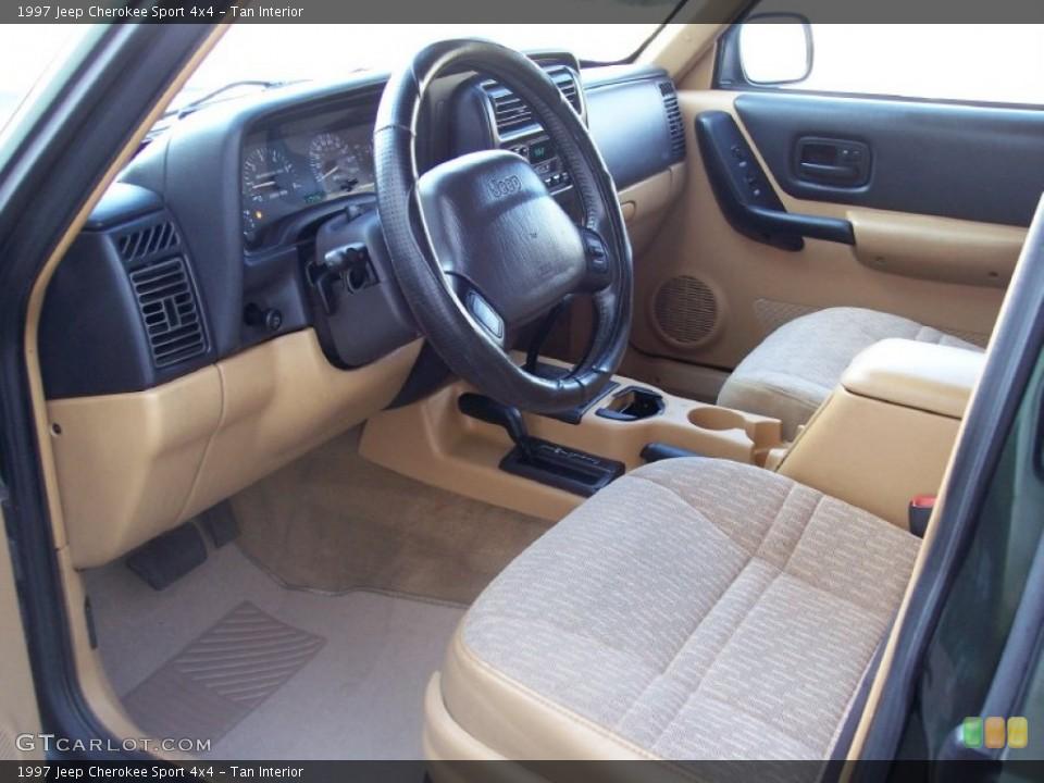 Tan interior photo for the 1997 jeep cherokee sport 4x4 - 1997 jeep grand cherokee interior ...