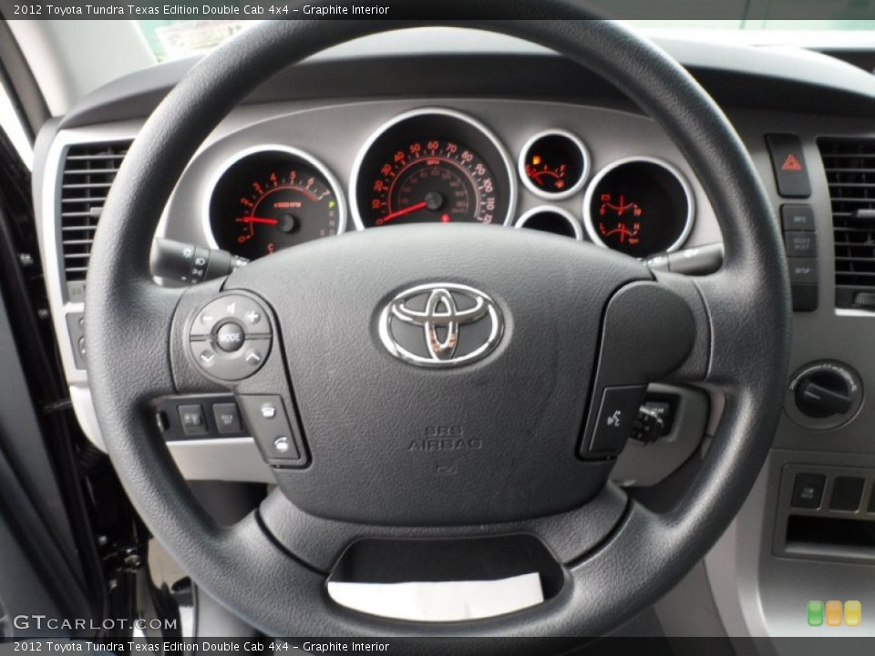 Graphite Interior Steering Wheel for the 2012 Toyota Tundra Texas Edition Double Cab 4x4 #57725651