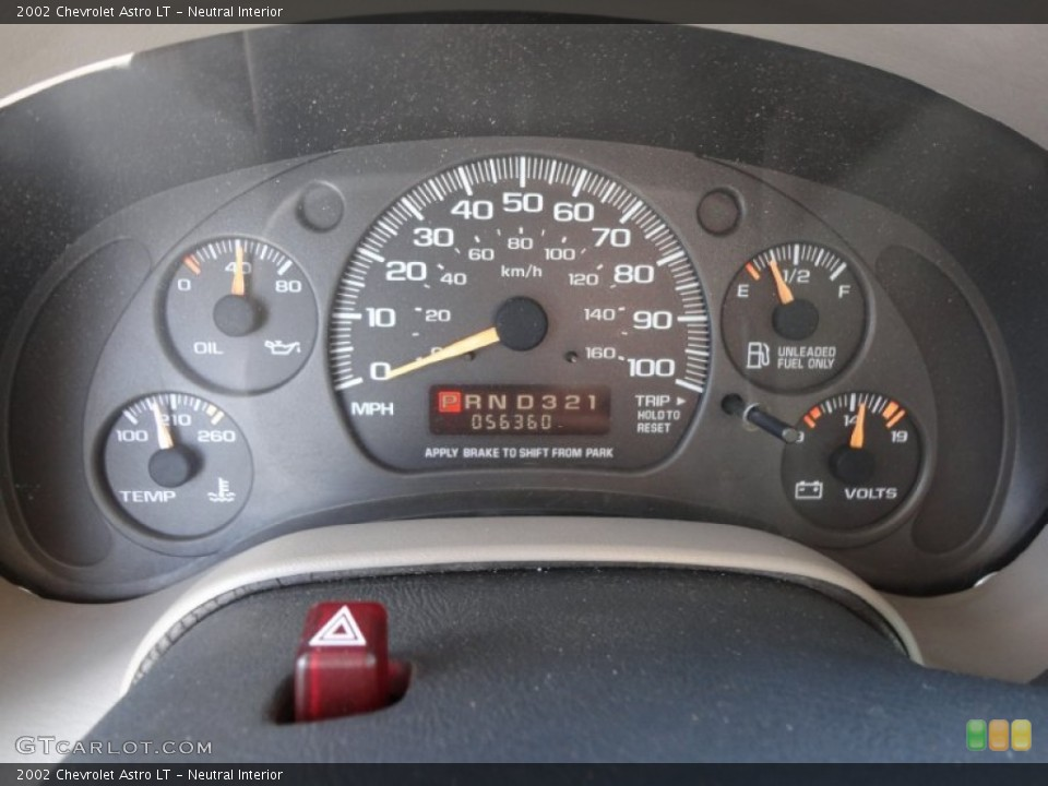 Neutral Interior Gauges for the 2002 Chevrolet Astro LT #57753185