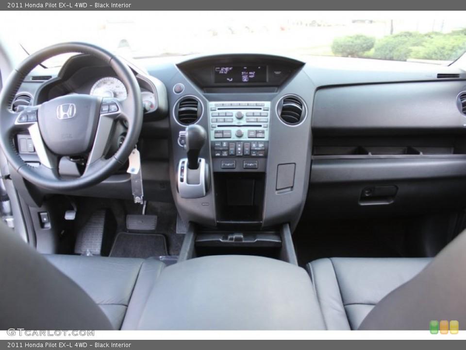 Black Interior Dashboard for the 2011 Honda Pilot EX-L 4WD #57767655