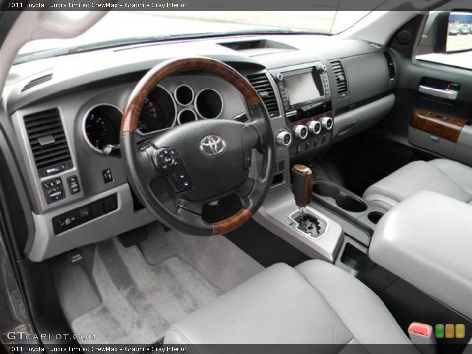 Graphite Gray 2011 Toyota Tundra Interiors