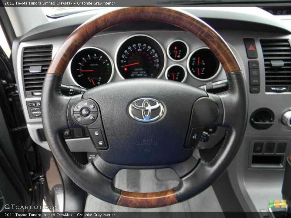Graphite Gray Interior Steering Wheel for the 2011 Toyota Tundra Limited CrewMax #57817855