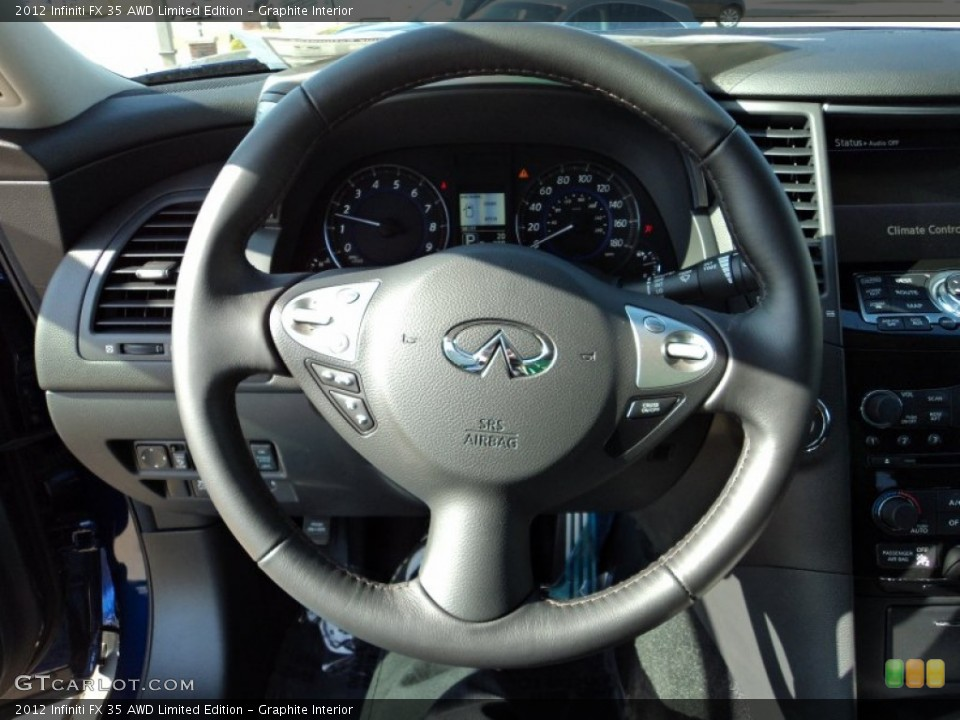 Graphite Interior Steering Wheel for the 2012 Infiniti FX 35 AWD Limited Edition #58076212