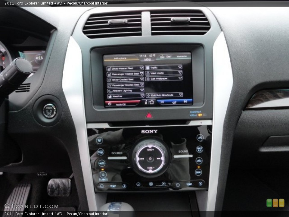 Pecan/Charcoal Interior Controls for the 2011 Ford Explorer Limited 4WD #58187788
