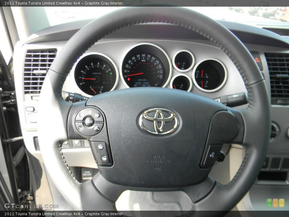 Graphite Gray Interior Steering Wheel for the 2011 Toyota Tundra Limited CrewMax 4x4 #58352132