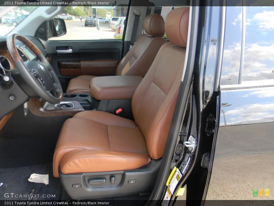 Redrock/Black Interior Photo for the 2011 Toyota Tundra Limited CrewMax #58352251