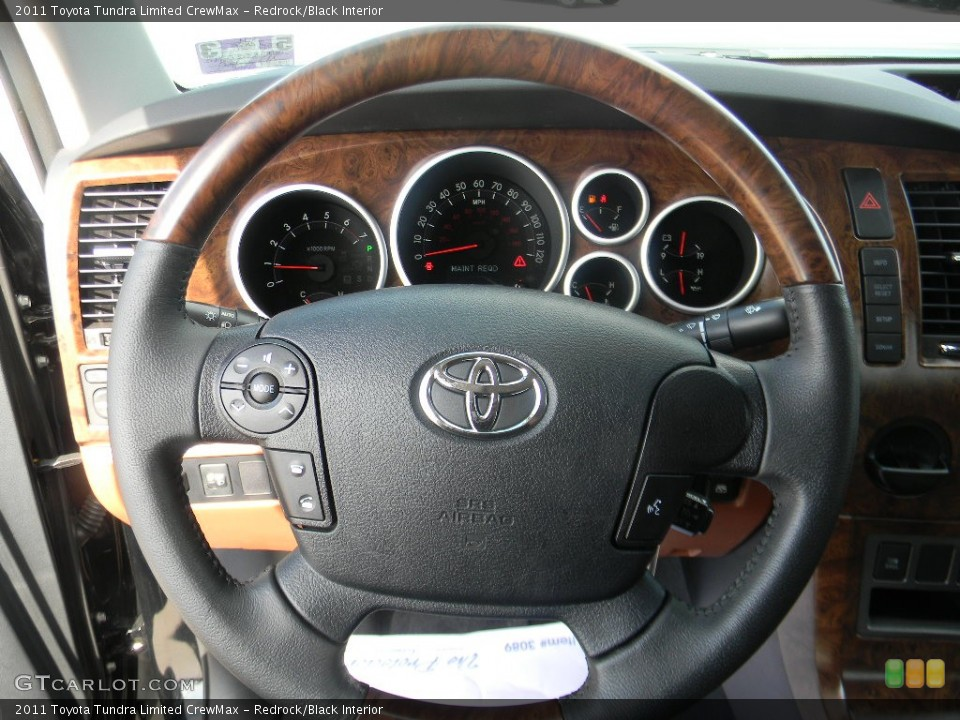 Redrock/Black Interior Steering Wheel for the 2011 Toyota Tundra Limited CrewMax #58352269