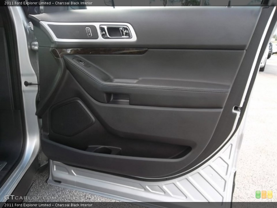 Charcoal Black Interior Door Panel for the 2011 Ford Explorer Limited #58505855