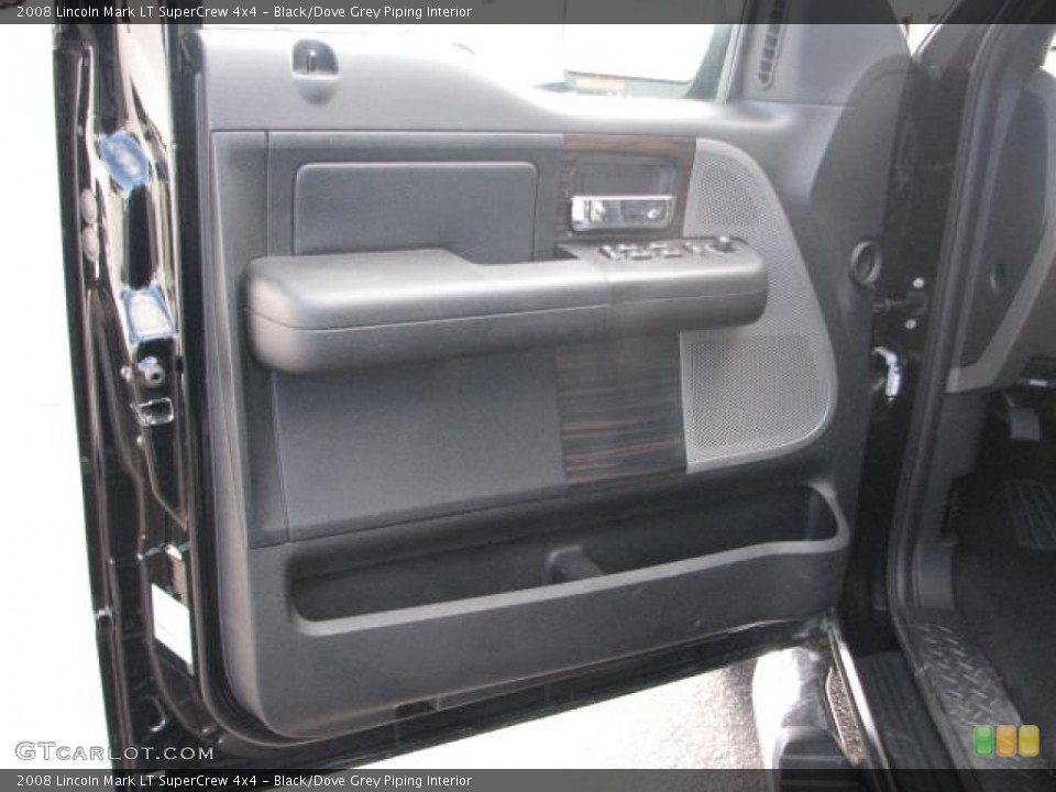 Black Dove Grey Piping Interior Door Panel For The 2008 Lincoln Mark