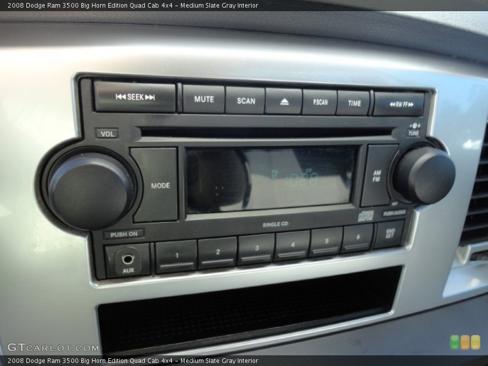 Medium Slate Gray Interior Audio System for the 2008 Dodge Ram 3500 Big Horn Edition Quad Cab 4x4 #58652657