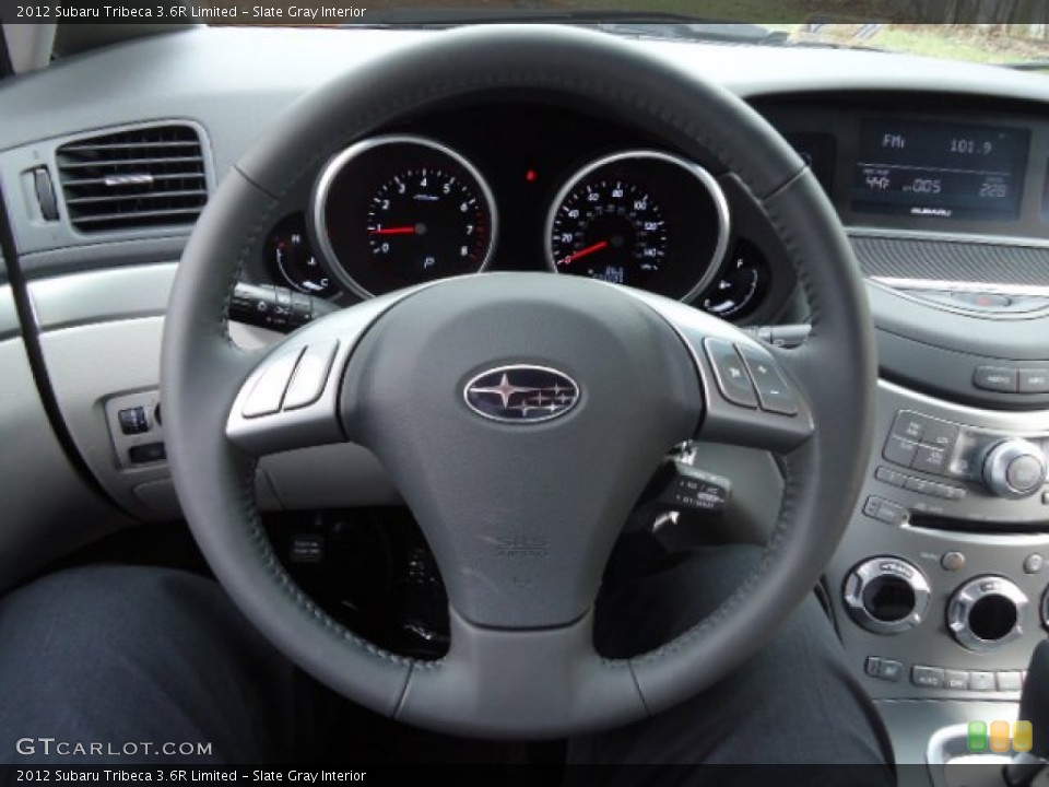 Slate Gray Interior Steering Wheel for the 2012 Subaru Tribeca 3.6R Limited #58903218