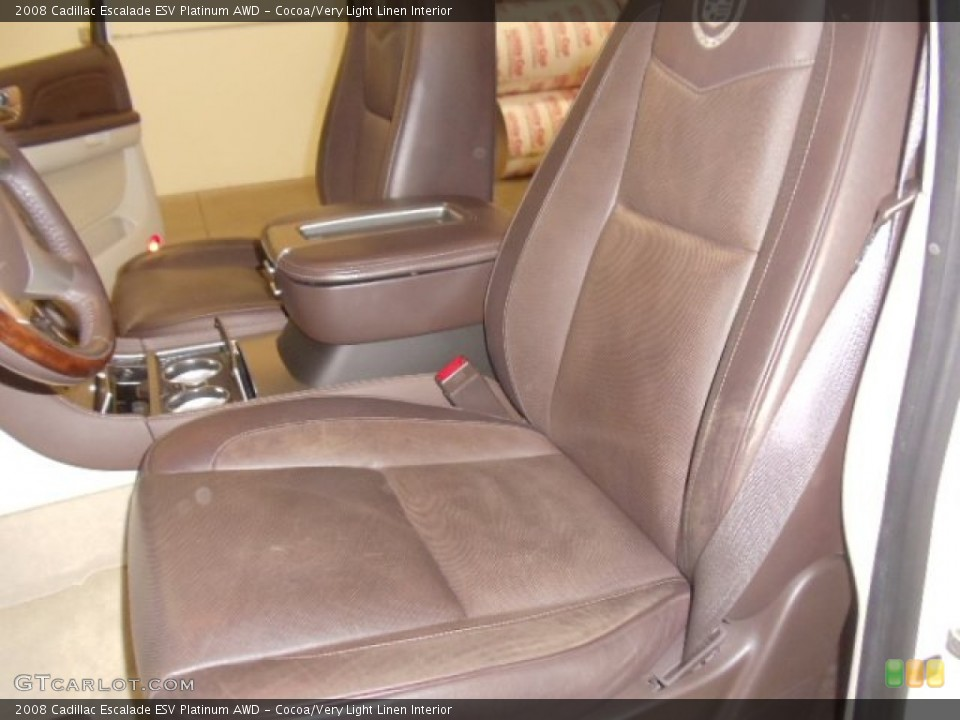 Cocoa/Very Light Linen Interior Photo for the 2008 Cadillac Escalade ESV Platinum AWD #59039227